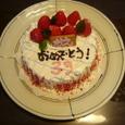 親友に誕生日ケーキ