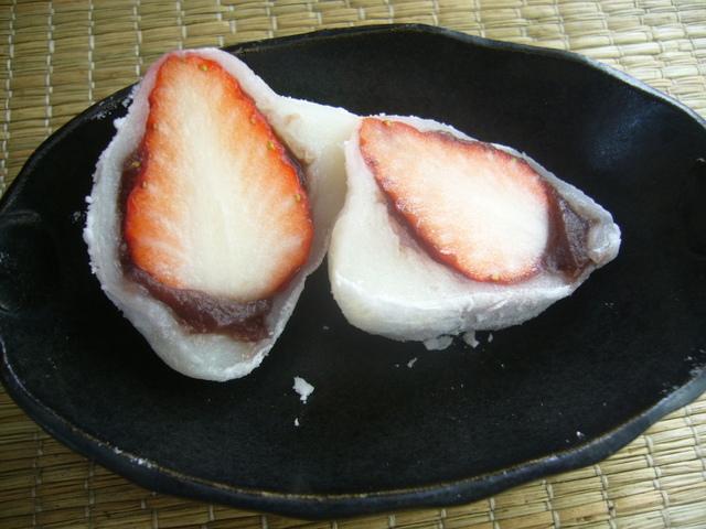 苺大福切り口