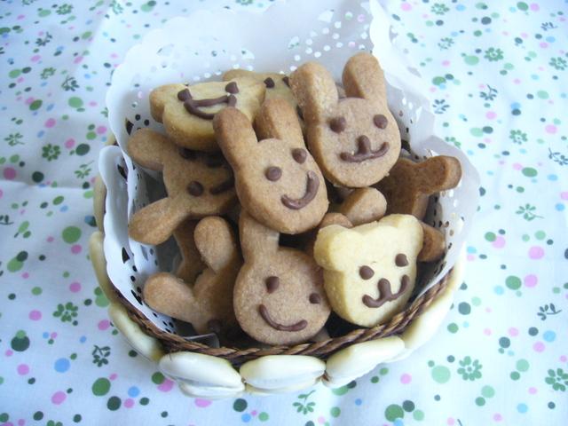 くまさん&うさぎさんクッキー
